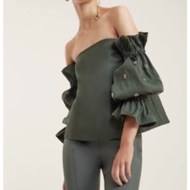 C/meo (cameo) Assembly Bustier Top