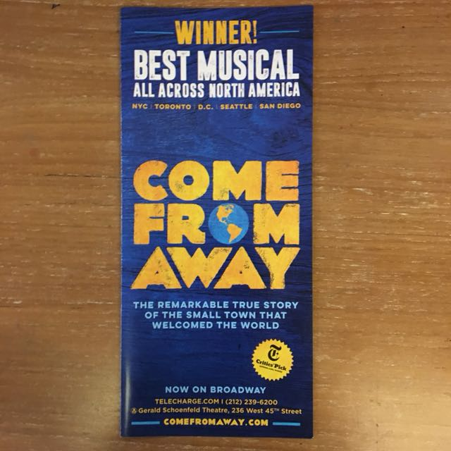 Come From Away (Broadway FLYER)