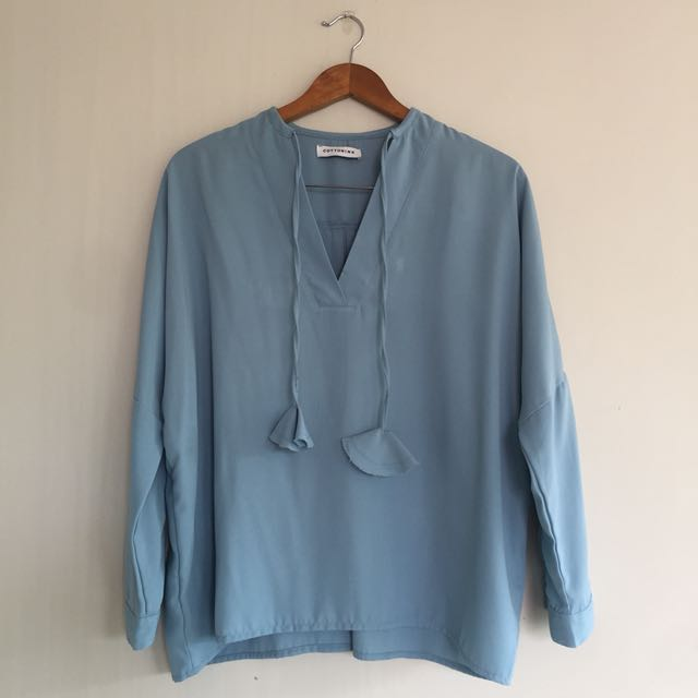 Cotton Ink Baby Blue Top