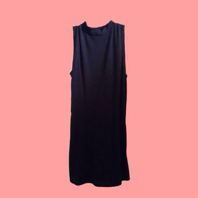 Cotton On Black Ribbed Turtle Neck Dress