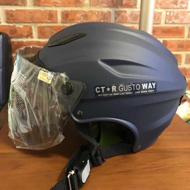 騎士工廠🎉CTR S-180雪帽(特大雪帽)安全帽 附鏡片 全可拆洗(平藍)