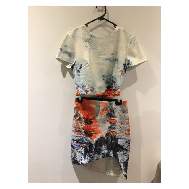 Cute set of top and skirt