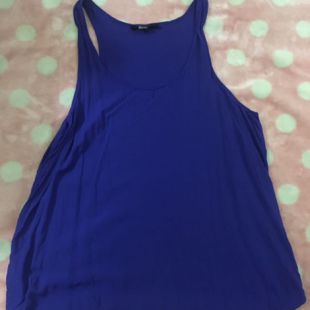 F21 Navy Blue Sleeveless Top