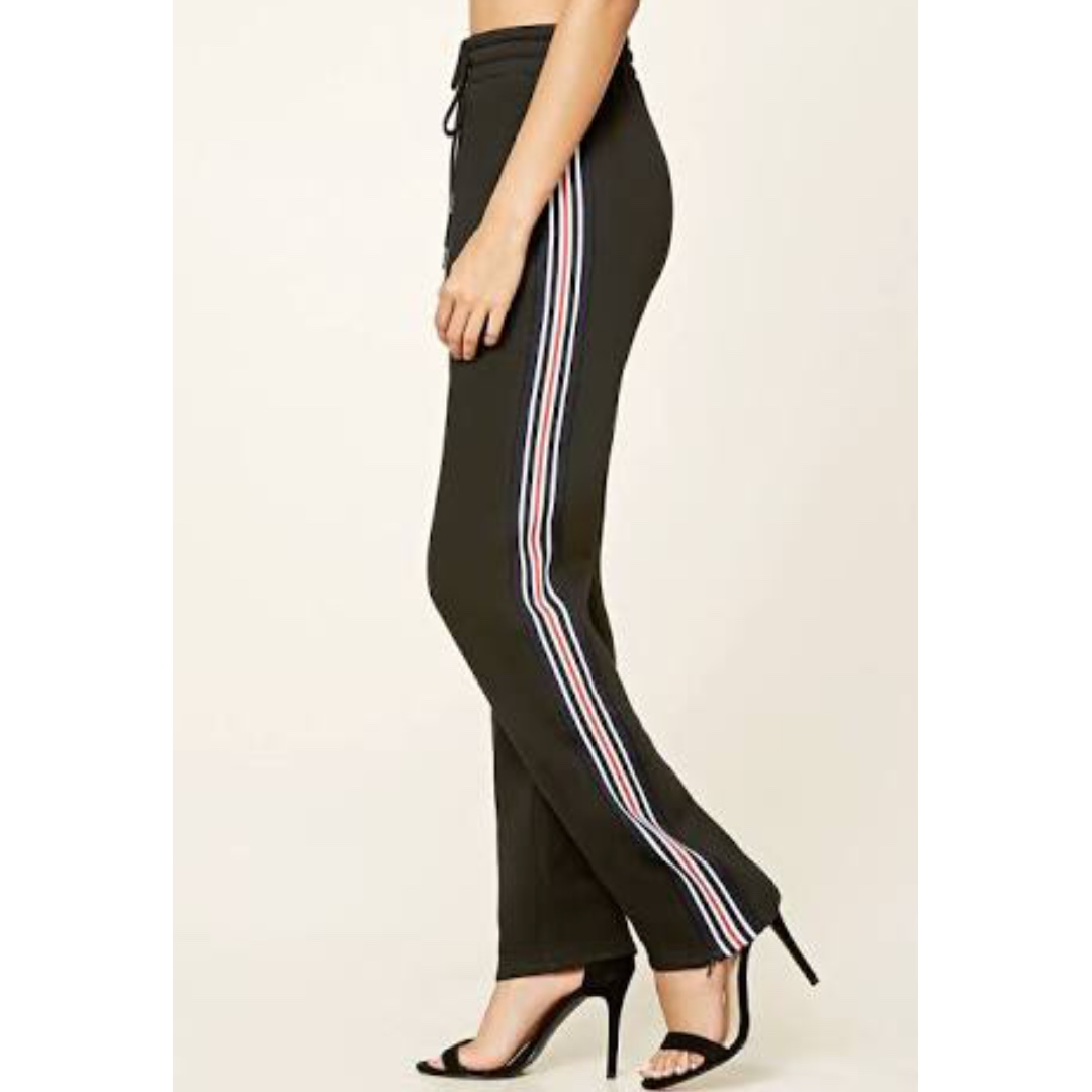 F21 Track Pants w/ side zipper (Thick cotton) 25/26