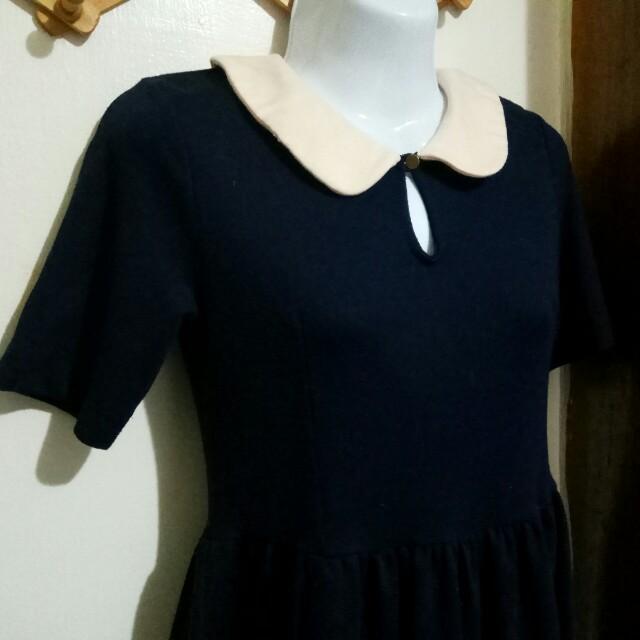 深藍色洋裝F