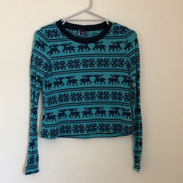 Fairisle print long sleeved top