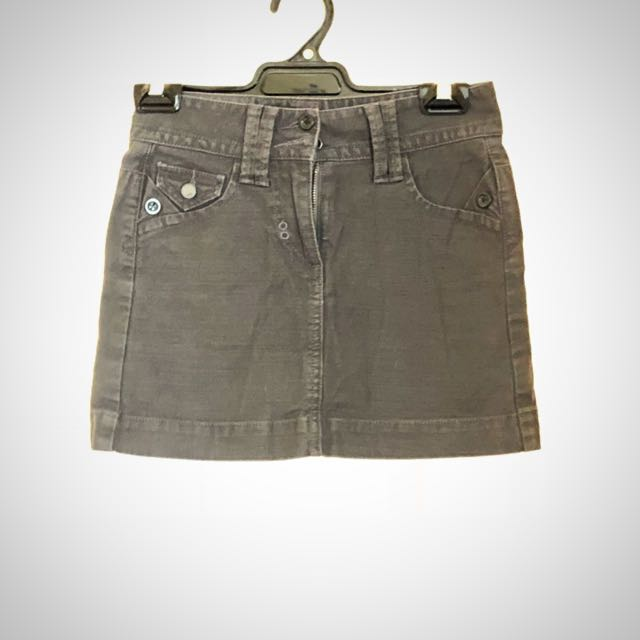 FCUK denim grey miniskirt