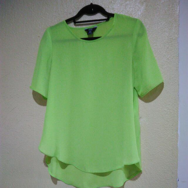 F&F Neon Green Blouse