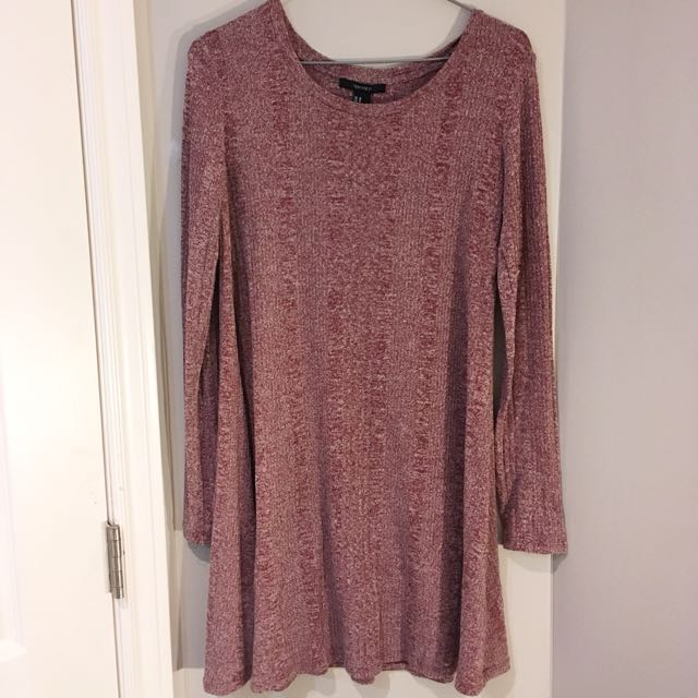 Forever 21 casual long sleeve ribbed dress