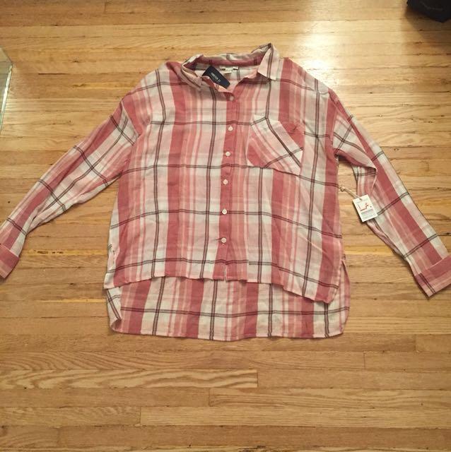 Forever 21 plaid shirt L
