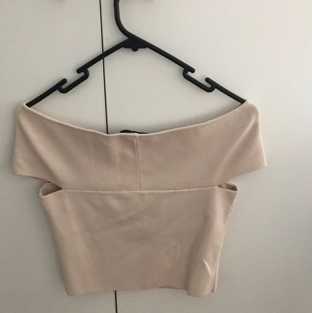 Forever new nude crop top