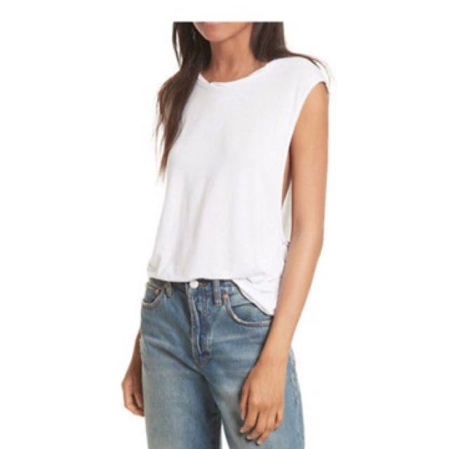 Free people white soft tank small XS authentic new NWT with tags