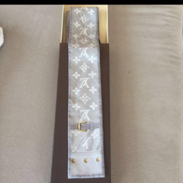 Genuine Luis Vuitton Silk Scarf