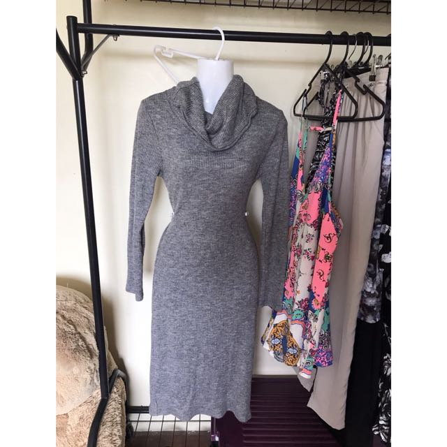 Grey roll neck dress size 8