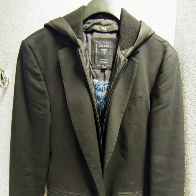 Guess Black Blazer with detachable hood