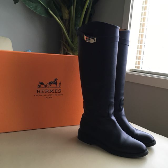 Hermes Knee High Riding Boots size 36