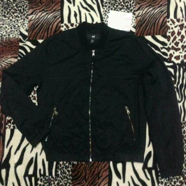 H&M Black Bomber Jacket (unisex)