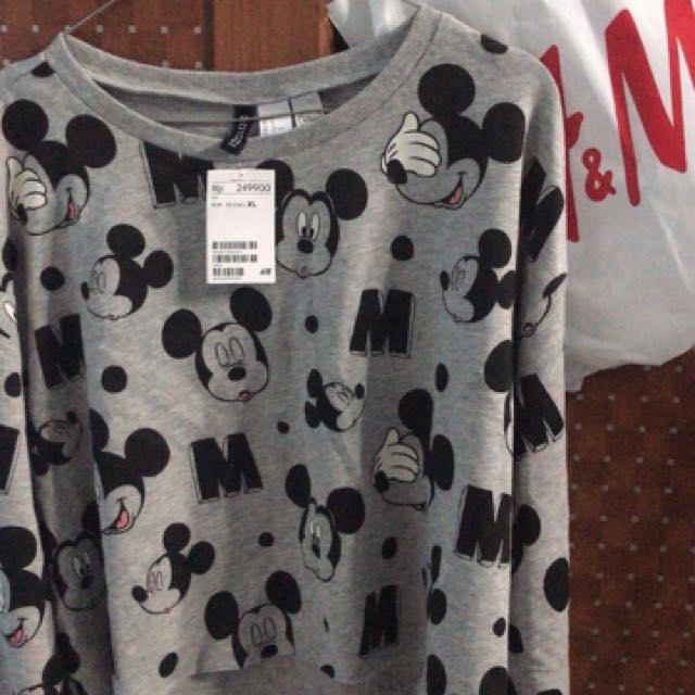 H&M croptop mickeymouse NEW