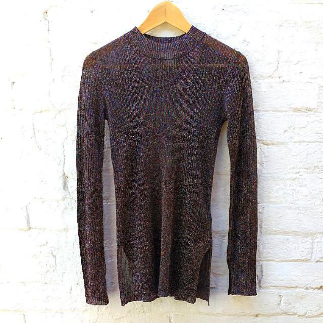 H&M lurex glitter long sleeve top
