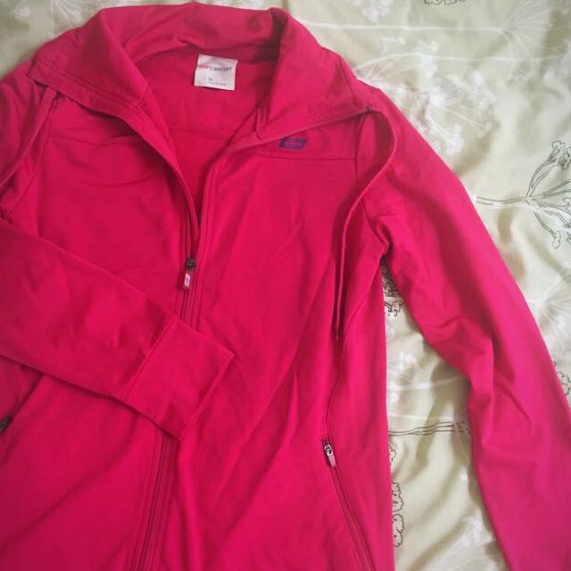 Hot pink sports jacket size 10 to 12