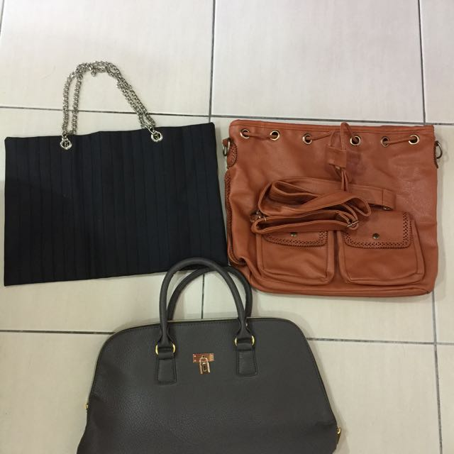 How bundle of leather bags