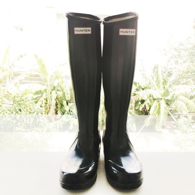 《雨天必備時尚單品》Hunter Boots正品黑色斷貨款