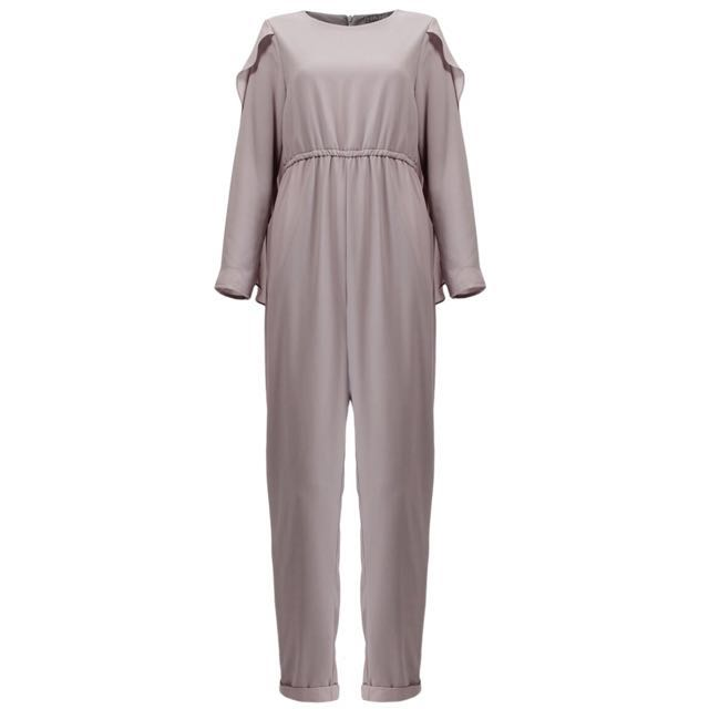 Husna Cape Plus Size Jumpsuit Womens Fashion Clothes Rompers