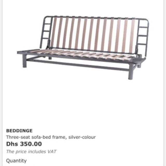 Ikea Three Seated Sofa Bed With Frame Queen Size