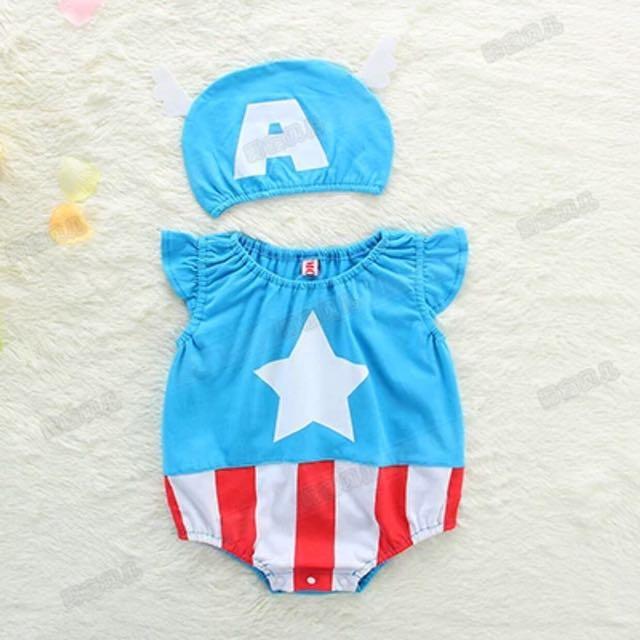 931d25a9c INSTOCK - Captain America baby romper / Onesie, Babies & Kids ...