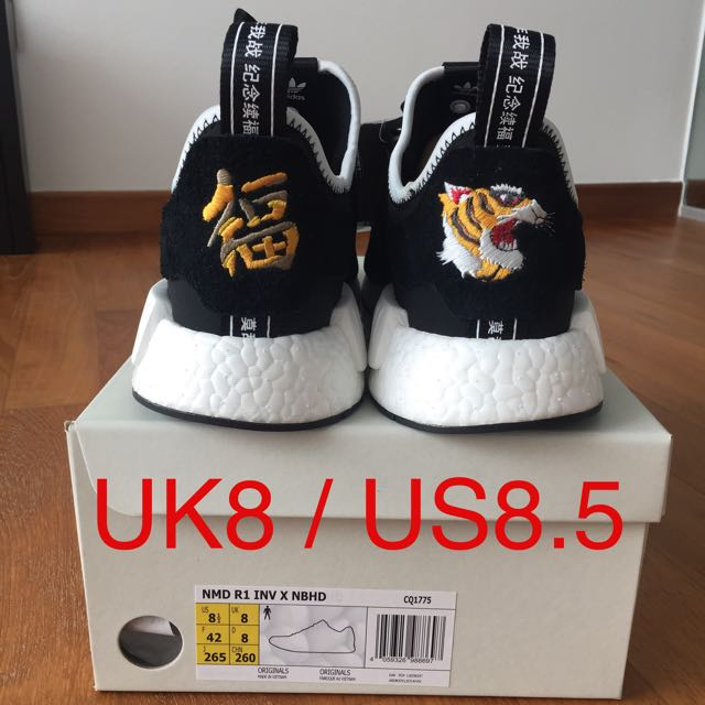 size 40 141fa ee6f0 INVINCIBLE x NEIGHBORHOOD x adidas NMD R1. Size UK 8., Men's ...