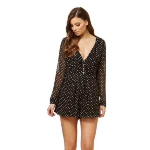 0675048fa4 Kookai Silk Polka Dot Playsuit SIZE 34