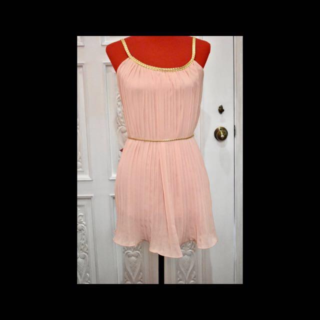 La Chic Peach Dress