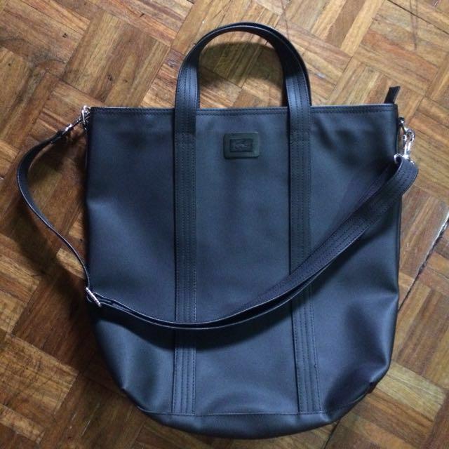 Lacoste Black Handbag with Sling