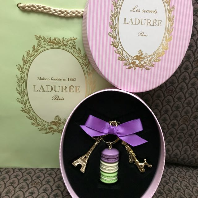 Laduree Parisienne Cassis Violet Key Ring