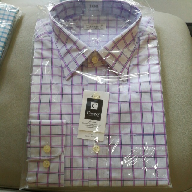 Long Sleeve Shirt caprino purple checkered size 100