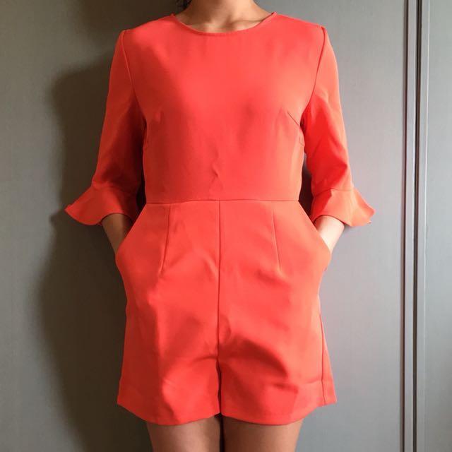 Love Bonito Orange Jumpsuit