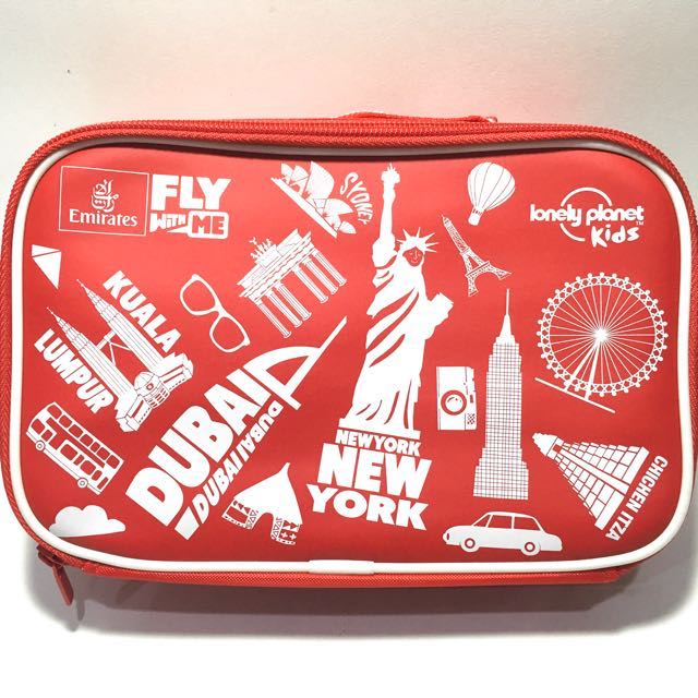 Lunch Bag by Fly Emirates colour Red