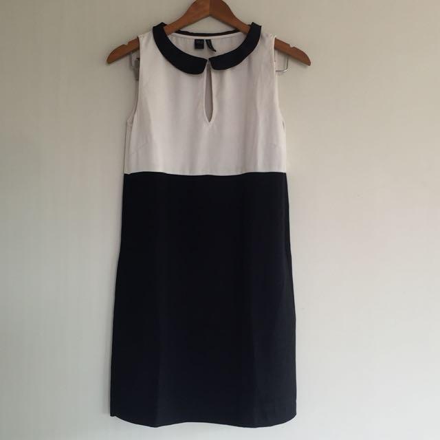 Mango Black n White Dress