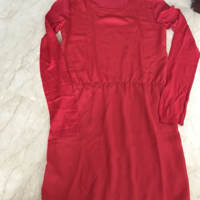 mango dress red