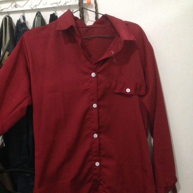 maroon daily shirt
