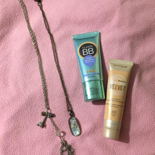Maybelline foundation and B.B. cream