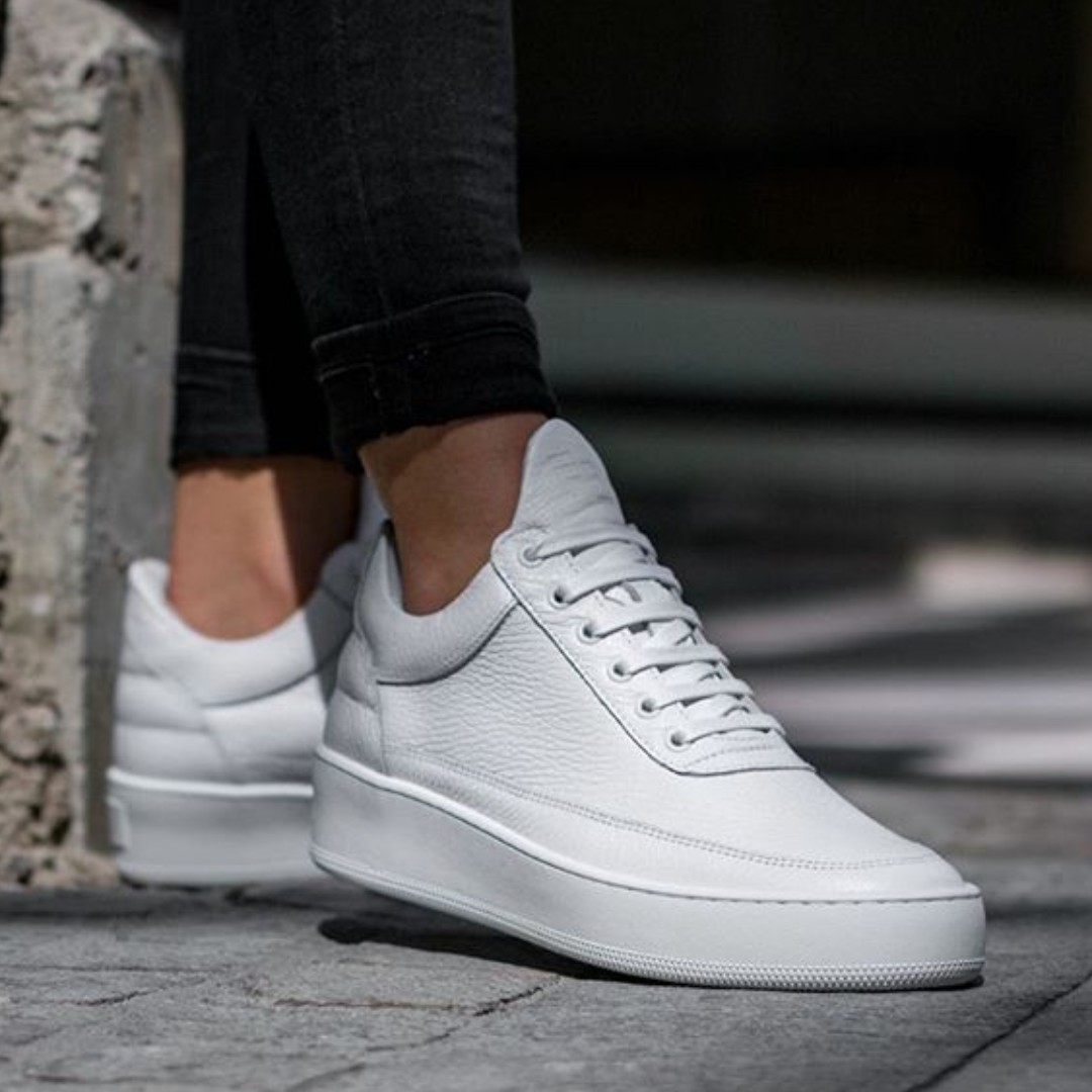 NIB Filling Pieces AW16 Low Top Cleo, WHITE, SZ EU39, Handcrafted in Portugal