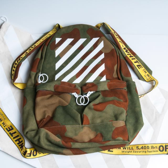 Off-White Diagonal Camo Bacpack