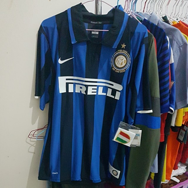 save off 01510 c42e2 Original Inter Milan Home Centenary Jersey, Sports, Sports ...