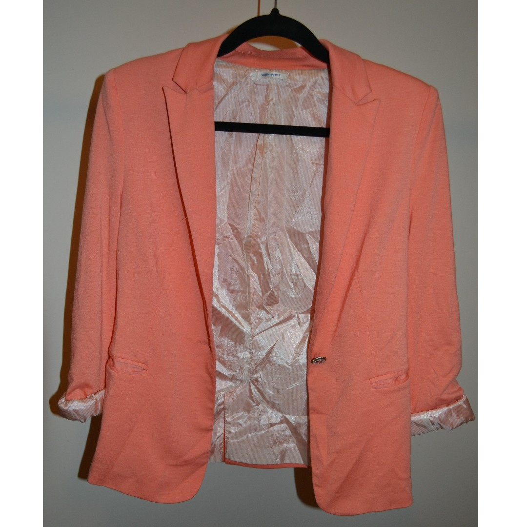 Peach/Orange Blazer