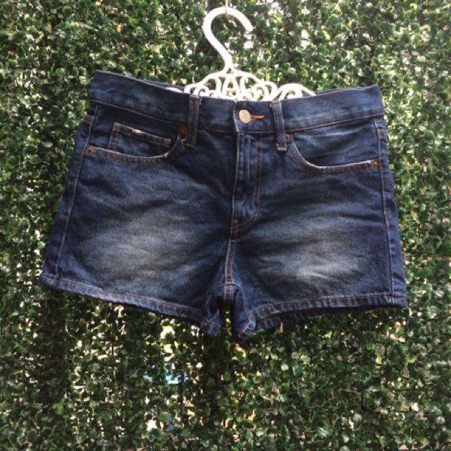Preloved uniqlo denim shorts