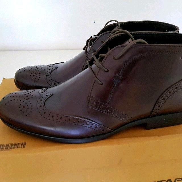 c57003bd772 Red Tape Mens Brogue Brown Tan Leather ankle shoes