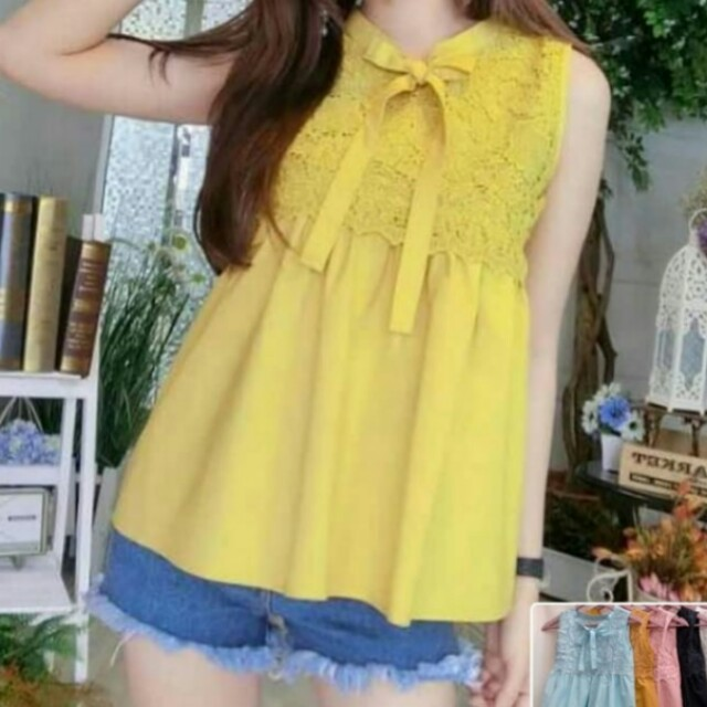Ribbon lace top