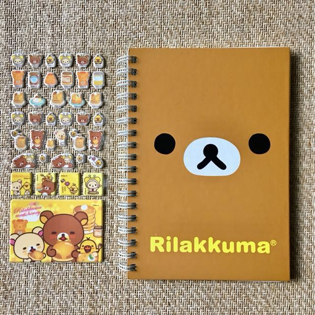 Rilakkuma Notebook with free stickers (authentic, Made in Japan)
