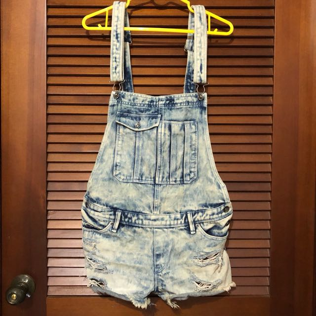 《夏季出清》Rocy 水洗牛仔吊帶褲